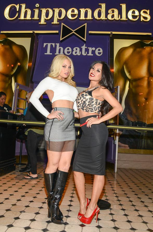 Jesse Jane & Kaylani Lei Visit Chippendales at The Rio in Las Vegas