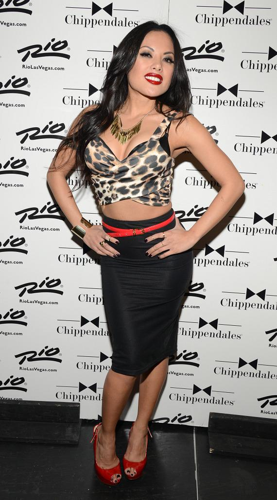Kaylani Lei visits Chippendales at The Rio in Las Vegas