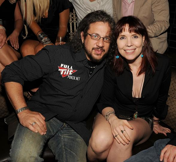 Annie Duke and Joe Reitman at LAVO
