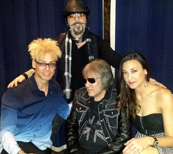 Christopher Ameruoso (in back), Murray SawChuck, Jose Feliciano and Jenni Lee