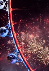 High Roller Observation Wheel Offers a Variety of Ways to Ensure an Unforgettable New Year's Eve With the Best Views of Las Vegas Fireworks