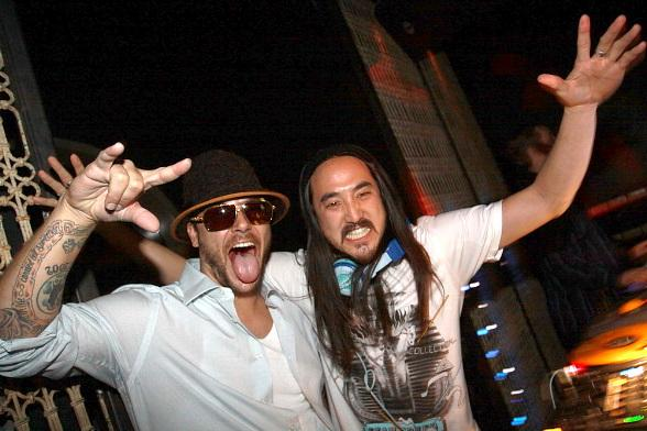 Kevin Federline and Steve Aoki at LAVO