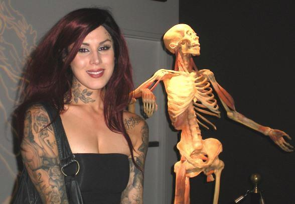Kat Von D at BODIES... The Exhibition