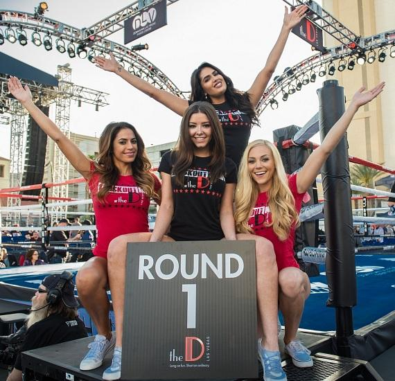 """Knockout Night at the D"" Ring Girls at Downtown Las Vegas Event Center"