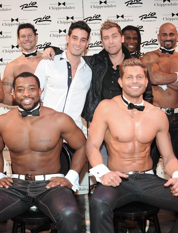 Michael Turchin and Lance Bass with Chippendales