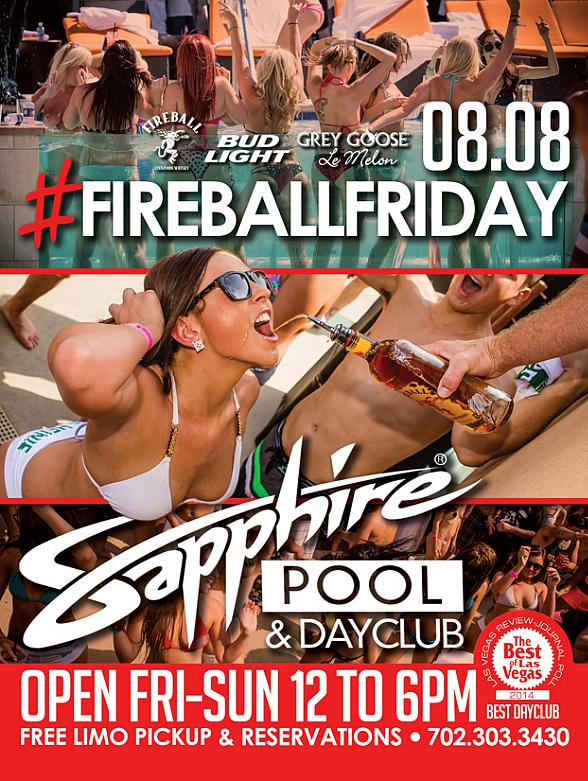 Sapphire Pool & Day Club Hosts Fireball Friday with Music by Hardnox August 8
