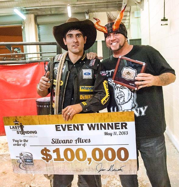 "Horny Mike from ""Counting Cars"" Congratulates Silvano Alves as Winner of PBR's Last Cowboy Standing"