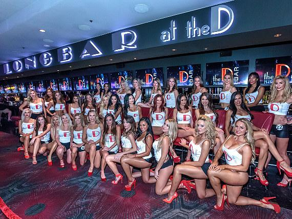 Miss D Casino Legs Contestants at the world famous Longbar in Las Vegas