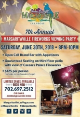 Margaritaville Las Vegas to Host 7th Annual Fireworks Viewing Party June 30