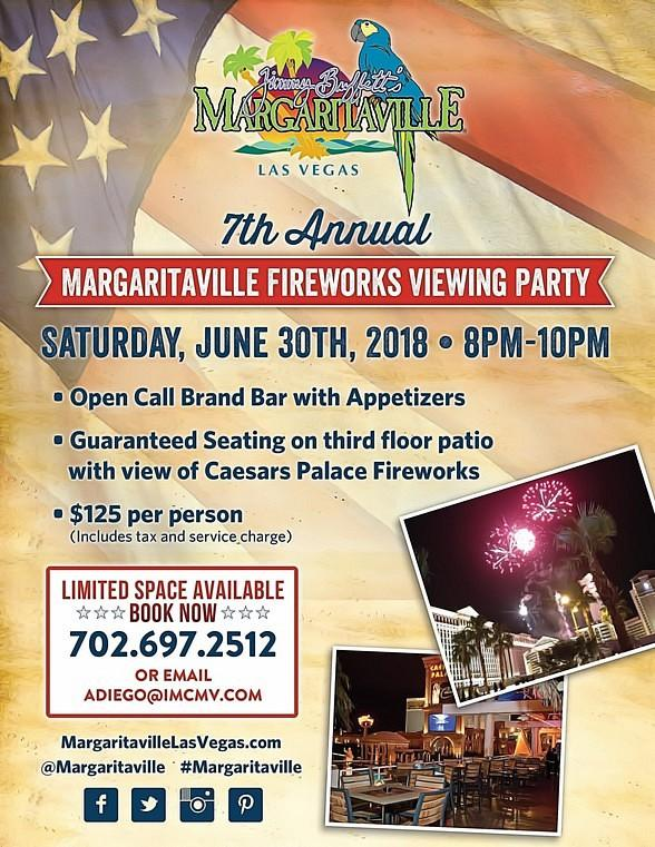 Margaritaville Las Vegas 7th Annual Fireworks Viewing Party June 30