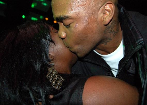 Mike Jones gives some sugar to a fan at JET Nightclub