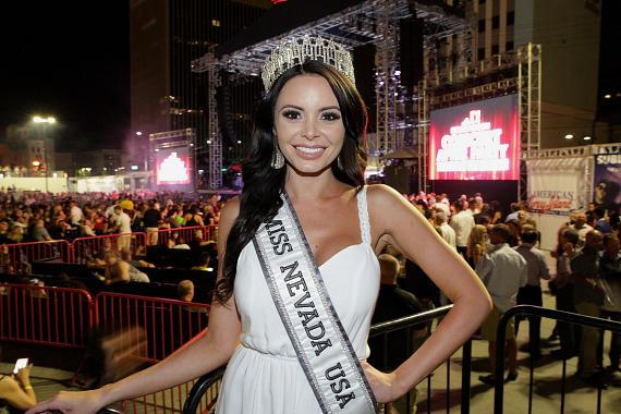Miss Nevada USA Emelina Adams at Downtown Las Vegas Events Center