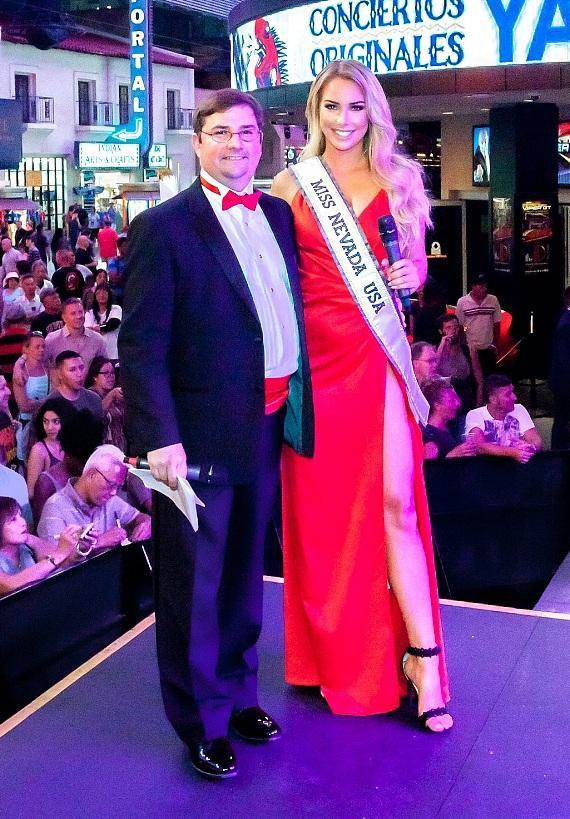 Miss Nevada USA Lauren York and The D Vice President Mike Palm host Miss D Legs 2017