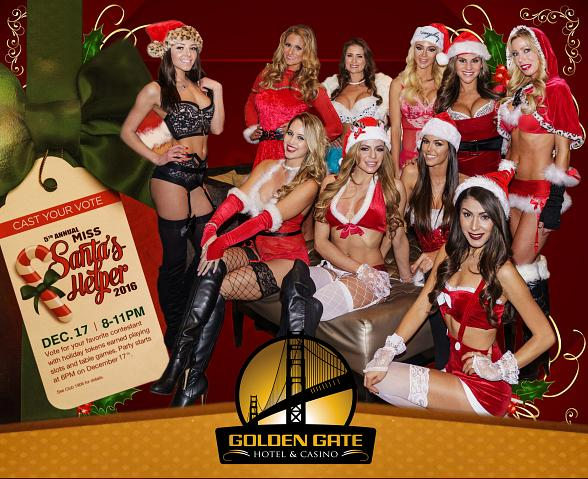 Golden Gate Hotel & Casino Decks The Halls for the 5th Annual Miss Santa's Helper Contest, Dec. 17