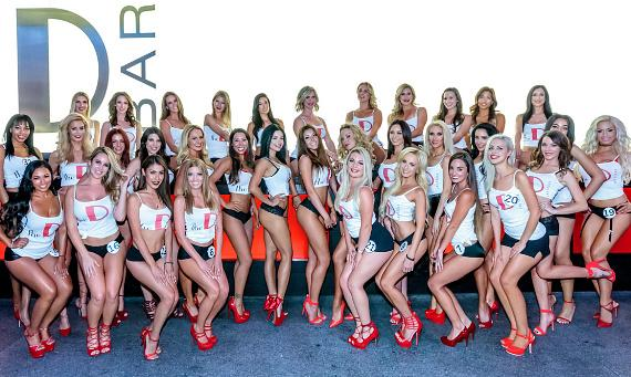 Miss D Legs Contestants at the D Bar in the D Casino Hotel in Las Vegas