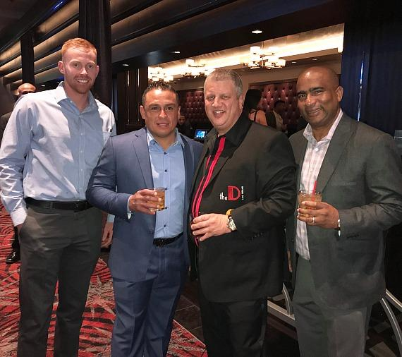 MLB players Tyler Beardsley, Carlos Ruiz, the D Casino Owner Derek Stevens in Las Vegas