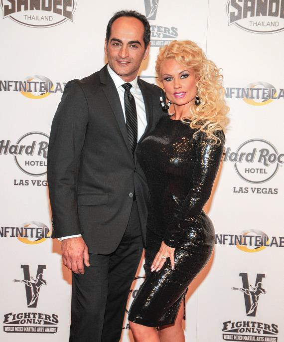Actor Navid Negahban with Nicole 'Coco' Austin