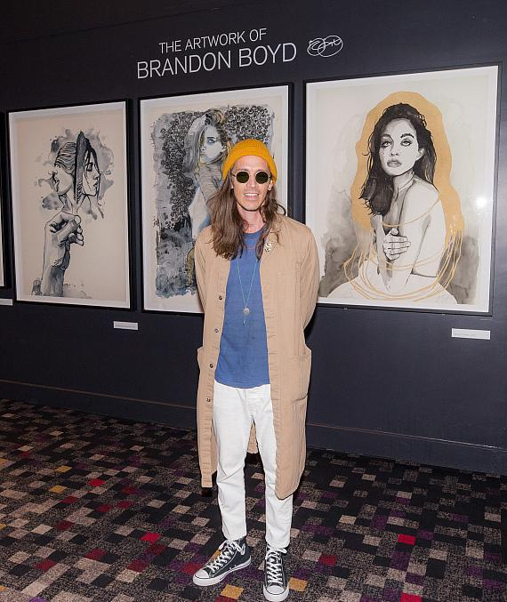 Hard Rock Hotel welcomed frontman Brandon Boyd as he presented a large-scale display of his fine art prints
