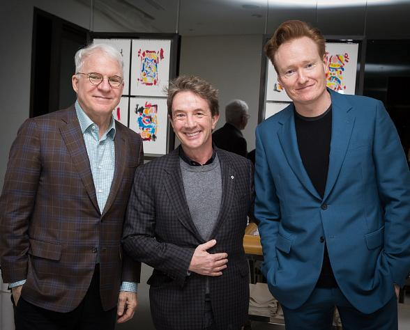 Steve Martin, Martin Short and Conan O'Brien at MR CHOW at Caesars Palace Las Vegas