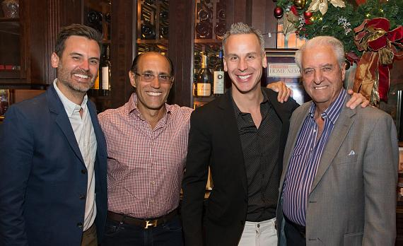 Bon Appetit Restaurant Editor Andrew Knowlton, Frankie Pellegrino Jr., Bon Appetit Editor-in-Chief Adam Rapaport and Rao's partner Ron Straci at Rao's