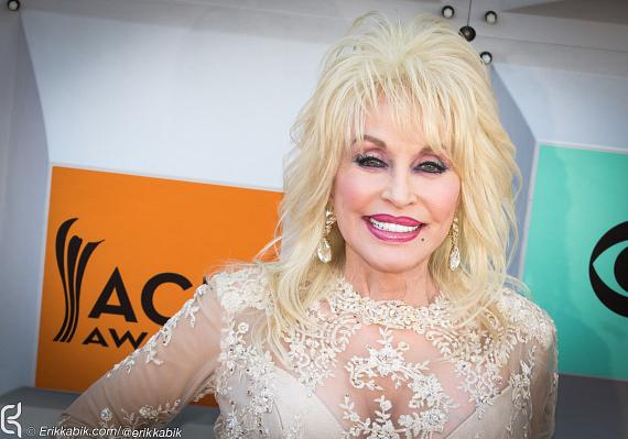 Dolly Parton at ACM Awards at MGM Grand in Las Vegas