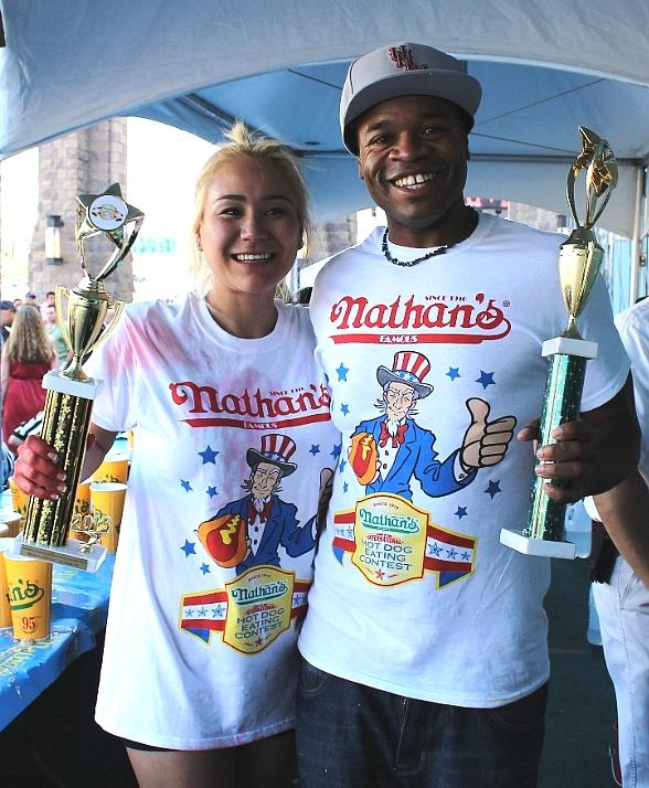 Champions Crowned at Nathan's Famous Hot Dog Eating Contest at New York-New York Hotel & Casino