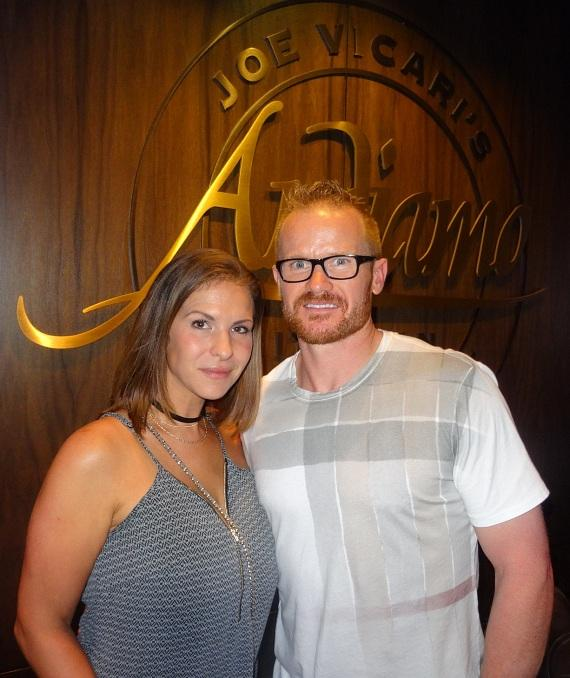 Former NHL player and Stanley Cup winner Jason Williams with wife Julie Williams at Andiamo Italian Steakhouse inside the D Casino Hotel Las Vegas