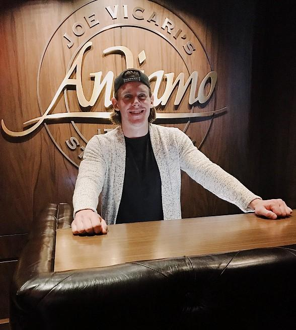 NHL Vegas Golden Knights Players, Erik Haula and Nate Schmidt, Dine at Andiamo Italian Steakhouse on the Same Night