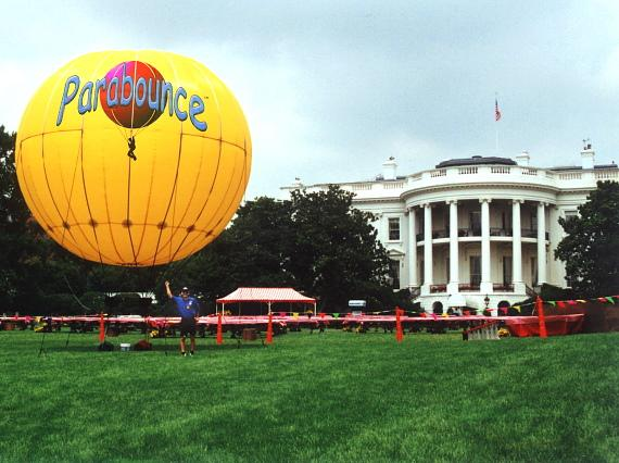 Parabounce on the White House lawn