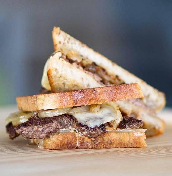 Patty Melt at Burger Lounge