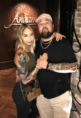 "Chumlee of ""Pawn Stars"" and Fiancée, Olivia, Dine at Andiamo Italian Steakhouse in Las Vegas"