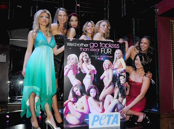 Ricks Cabaret Dancers Pose For New Peta Anti Fur Print Ad Campaign