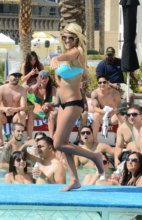 Contestant at 5th Annual Pleasure Pool Bikini Contest at Planet Hollywood Resort & Casino