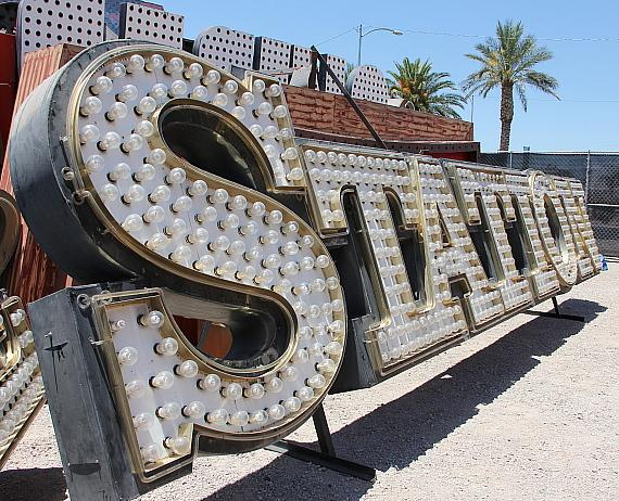 Palace Station sign now at the Neon Museum