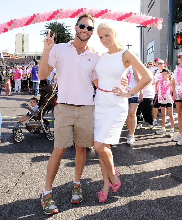 Holly Madison and Josh Strickland at Susan G. Komen Southern Nevada Race For The Cure in Las Vegas