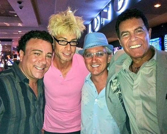 Frankie Scinta, Murray SawChuck, Tim Molyneaux and Clint Holmes at the D Las Vegas