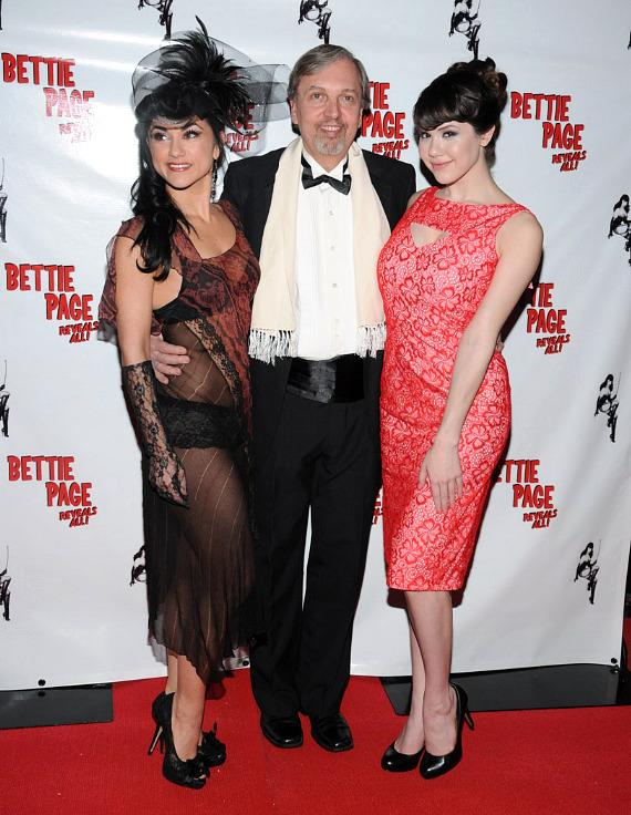 Absinthe star Melody Sweets with Mark Mori and Claire Sinclair
