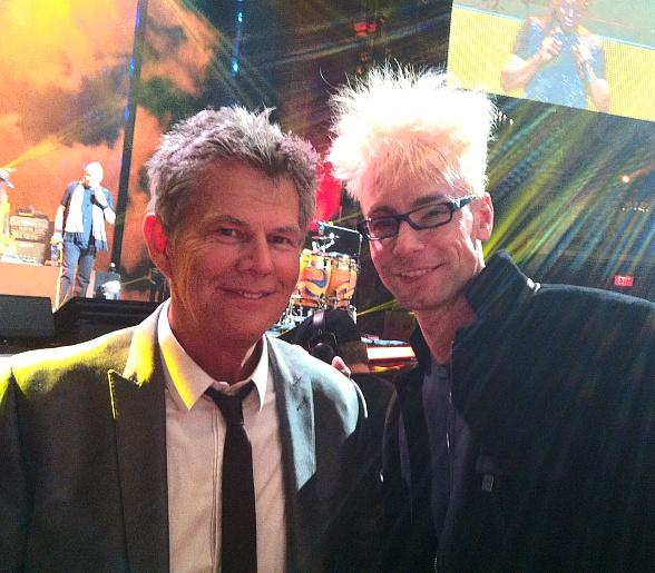 Murray Hangs with David Foster at Live Event