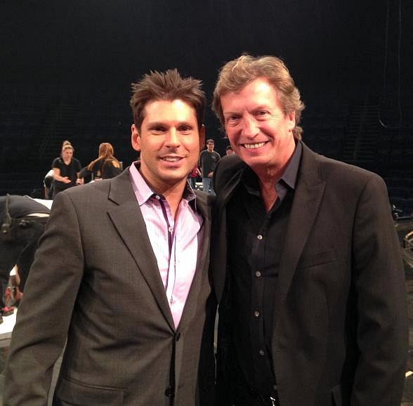 Comedian Mike Hammer and producer Nigel Lythgoe