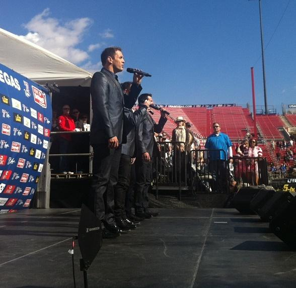 Imperial Palace Headliners Human Nature Perform National Anthem at USA Sevens Rugby
