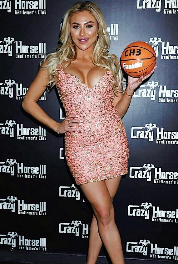 """Playboy and Maxim Model Khloe Terae at """"Hoops And Hotties"""" event at Crazy Horse III Las Vegas"""