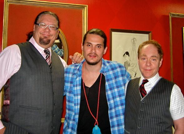 John Mayer Enjoys Penn & Teller Show at Rio All-Suite Hotel & Casino in Las Vegas