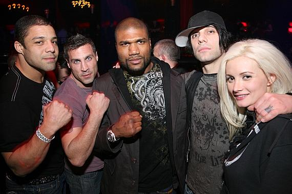Friends with Rampage Jackson, Criss Angel, Holly Madison at LAX Nightclub