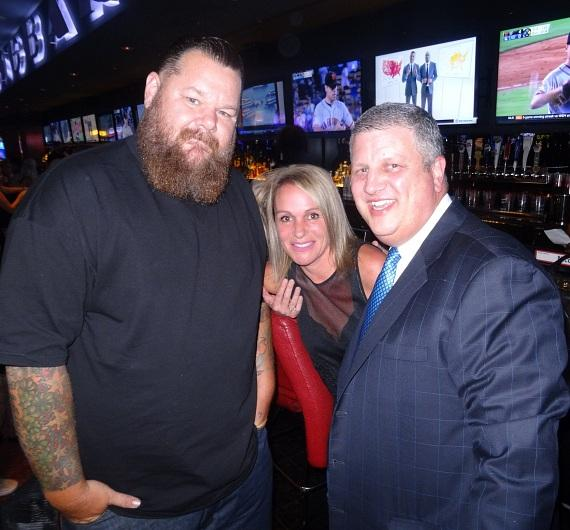 Rapper Big B with the D Casino Owner Derek Stevens and wife Nicole Parthum