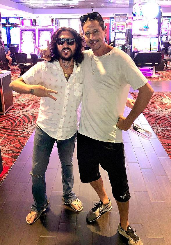 """Rappers Simon """"Dirt Nasty"""" Rex and Mickey Avalon Hang Out at the D Casino Hotel in Las Vegas"""