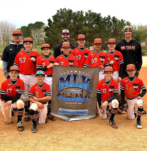 Rawlings Tigers 12u Las Vegas Travel Ball Team with Coaches Kody Gorden and Kaz Smith
