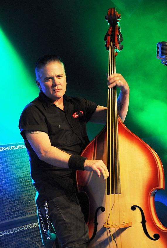 Jimbo Wallace plays the stand-up bass