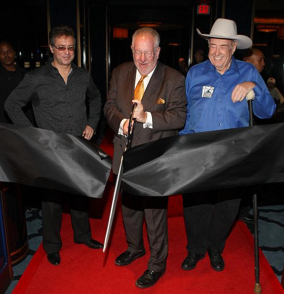 Mayor Oscar Goodman, Hard Rock President Randy Kwasniewski and Doyle Brunson