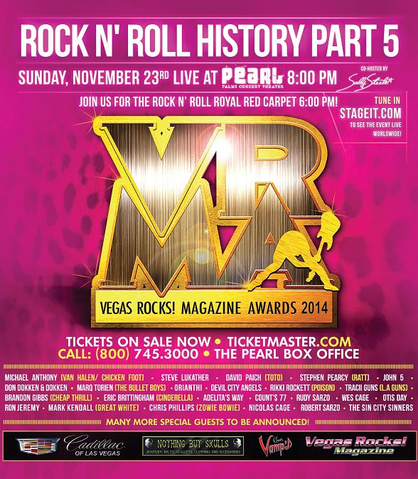 The Fifth Annual 'Vegas Rocks! Magazine Music Awards' to Rock The Pearl November 23, 2014