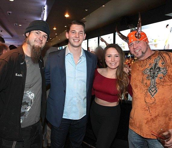 Ryan Evans and Horny Mike of Counting Cars with fans at the D Casino in Las Vegas